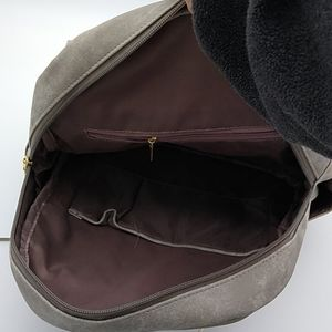 Bags - Gray Distressed Vegan Leather Large Backpack Purse